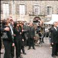 Les parents de Grégory Lemarchal et Karine Ferri- Obsèques de Grégory Lemarchal, en 2007 à Chambéry.