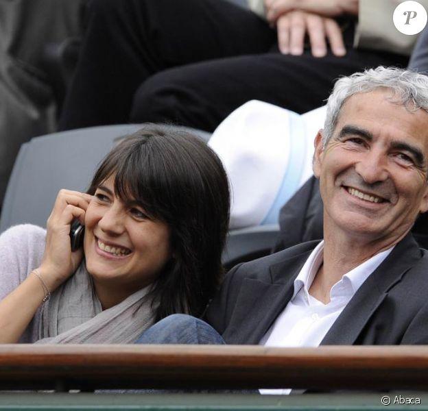 Estelle Denis et Raymond Domenech
