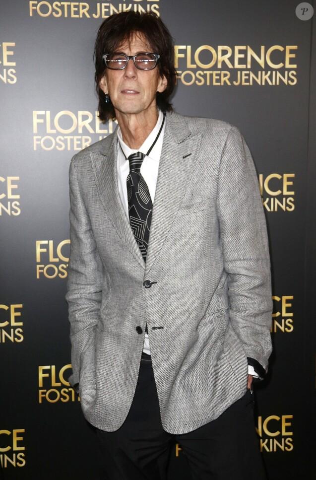 Ric Ocasek à la première de 'Florence Foster Jenkins' au théâtre AMC Loews Lincoln Square 13 à New York, le 9 août 2016
