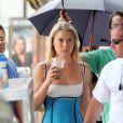Ali Larter belle au naturel sur le tournage de la série Heroes mercredi 8 juillet à Los Angeles
