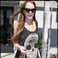 Lindsay Lohan se rend dans une boutique spécialisée dans les extensions de cheveux dans North Hollywood le 8 juillet 2009