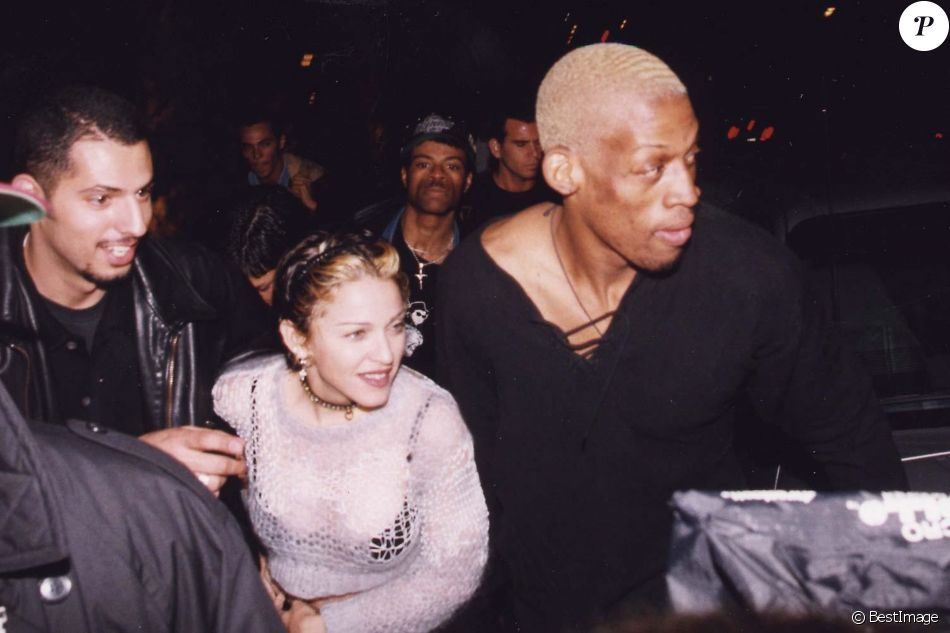 Madonna et Dennis Rodman en 1994.