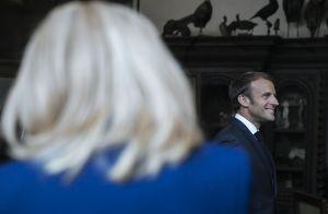 Brigitte et Emmanuel Macron avec Stéphane Bern pour les Journées du Patrimoine