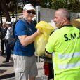 Exclusif - Le prince Albert II de Monaco a participé le 21 septembre 2019 à la première édition en principauté du World CleanUp Day, une opération de ramassage de déchets. © Bruno Bebert / Pool / Bestimage