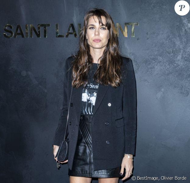 Charlotte Casiraghi assiste au défilé de mode printemps-été 2020 de Saint Laurent à Paris. Le 24 septembre 2019. © Olivier Borde / Bestimage