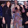 Karin Viard, Marina Hands, Hafsia Herzi, Laurent Lafitte assistent au défilé Etam Live Show 2019 au Stade Roland Garros à Paris le 24 septembre 2019. © Rachid Bellak / Bestimage