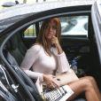 Zahia Dehar a assisté au défilé Lanvin, collection prêt-à-porter printemps-été 2020 lors de la Fashion Week de Paris. Le 25 septembre 2019. © Michael Baucher/Panoramic/Bestimage
