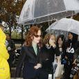 Isabelle Huppert a assisté au défilé Lanvin, collection prêt-à-porter printemps-été 2020 lors de la Fashion Week de Paris. Le 25 septembre 2019. © Veeren-Clovis/Bestimage