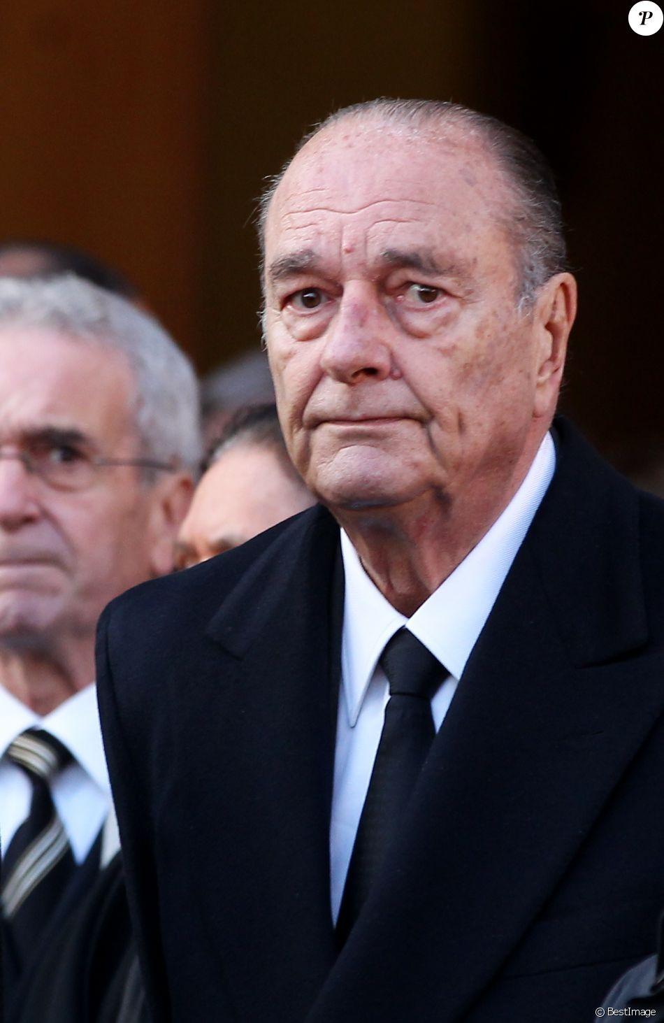 Jacques Chirac - Obèsques de Bernard Niquet, à Paris, le 15 novembre 2011.