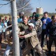Le prince Harry, duc de Sussex, dans le parc national de Chobe au Botswana lors de sa visite officielle en Afrique australe, le 26 septembre 2019.