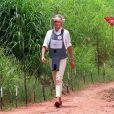 La princesse de Galles, Lady Di, visite un champ de mines anti-personnelles à Dirico en Angola, le 15 janvier 1997.