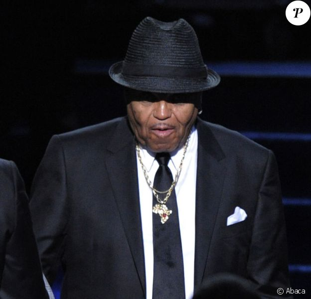 Joe Jackson lors de l'hommage public de son fils le 7 juillet au Staples Center à Los Angeles