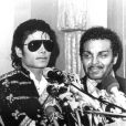 Joe Jackson et son fils Michael dans les années 80