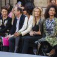 Olga Kurylenko, Sonia Rolland, Estelle Lefébure et Tina Kunakey assistentassiste au défilé L'Oréal Paris 2019 à la Monnaie de Paris le 28 septembre 2019, pendant la fashion week. © Olivier Borde / Bestimage