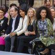 Olga Kurylenko, Sonia Rolland, Estelle Lefébure et Tina Kunakey assistentau défilé L'Oréal Paris 2019 à la Monnaie de Paris le 28 septembre 2019, pendant la fashion week. © Olivier Borde / Bestimage