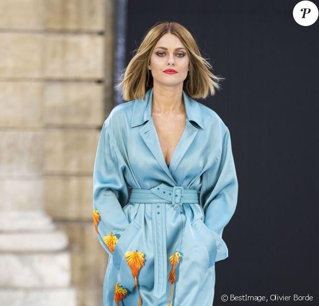 Caroline Receveur participe au défilé L'Oréal Paris 2019 à la Monnaie de Paris le 28 Septembre 2019 pendant la fashion week. © Olivier Borde / Bestimage