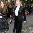Amber Heard à l'issue du défilé L'Oréal à la Monnaie de Paris, le 28 septembre 2019.