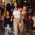Kim Kardashian est allée assister avec ses enfants Saint West, North West et Chicago West à la messe dominicale de son mari K.West à New York, le 29 septembre 2019
