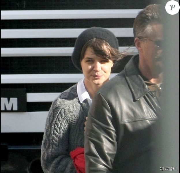 """Katie Holmes sur le tournage de """"Don't be afraid of the dark"""", aux studios Docklands de Melbourne, à Melbourne, le 12 juillet 2009 !"""