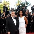 "Luc Besson et sa femme Virginie Silla à la montée des marches du film ""The Last Face"" lors du 69ème Festival International du Film de Cannes le 20 mai 2016. © Rachid Bellak / Bestimage"