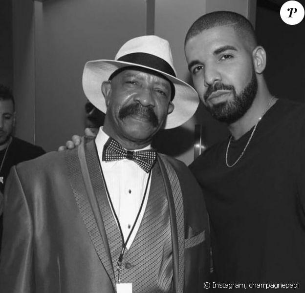 Drake et son père, Dennis Graham, sur Instagram, le 21 septembre 2019.
