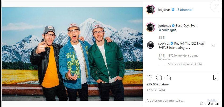 Joe Jonas annonce une collaboration avec la marque Coors Light, le 10 octobre 2019.