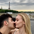 Sophie Turner et Joe Jonas sur Instagram, à Paris.