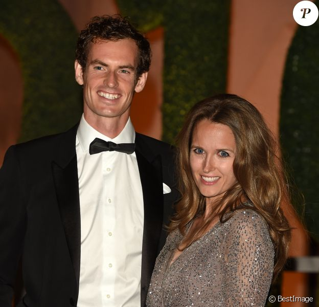 Andy Murray et sa femme Kim Sears - Dîner de gala avec Serena Williams et Andy Murray victorieux du tournoi de tennis de Wimbledon à Londres le 10 juillet 2016.