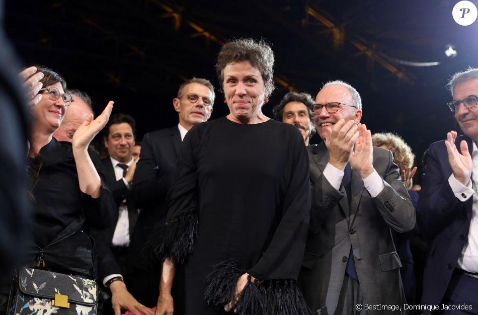 Frances McDormand - Cérémonie d'ouverture à la Halle Tony Garnier du 11ème Festival Lumiere 2019 de Lyon le 12 octobre 2019. © Dominique Jacovides / Bestimage