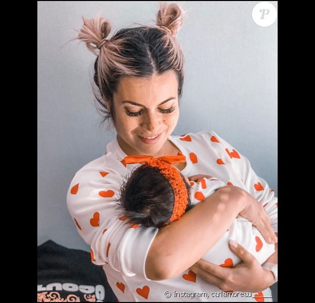 Carla Moreau et sa petite Ruby, sur Instagram, le dimanche 6 octobre 2019.