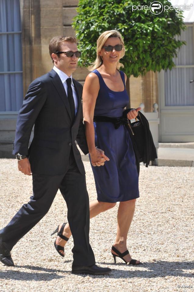 Laurence Ferrari et Renaud Capuçon, lors de la Garden Party à l'Elysée, le 14 juillet 2009 !