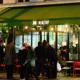"""Inauguration du nouveau restaurant de fast food healthy de Kev Adams, le """"Jak Healthy"""" au 24 rue de Rivoli dans le 4e arrondissement à Paris, le 15 octobre 2019. © Rachid Bellak/Bestimage"""