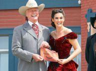 Larry Hagman de Dallas remonte dans le temps pour jouer au shériff... avec un rire un peu forcé !