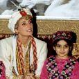 Lady Diana en voyage au Pakistan, en 1991.