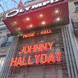 Hommage au chanteur Johnny Hallyday à la salle de spectacle de l'Olympia à Paris, France, le 9 décembre 2017. © Christophe Aubert/Bestimage