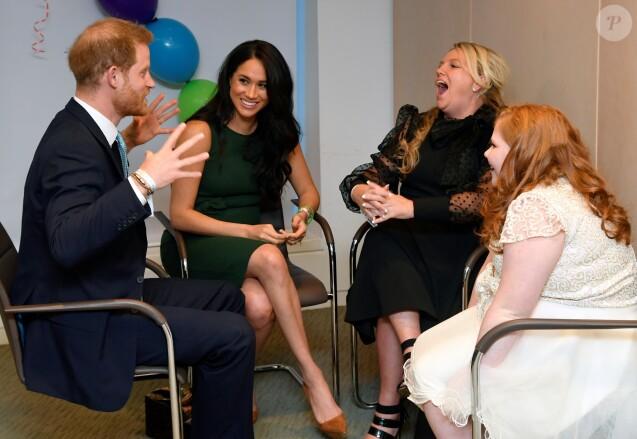 Le prince Harry, duc de Sussex, et Meghan Markle, duchesse de Sussex, lors de la soirée des WellChild Awards à l'hôtel Royal Lancaster à Londres le 15 octobre 2019.