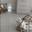 Jessica Thivenin et Thibault Garcia font visiter la chambre de leur fils Maylone, le 23 octobre 2019.