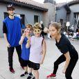 Céline Dion fête les 8 ans de Nelson et Eddy, à Las Vegas, le 23 octobre 2018