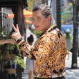Rodrigo Alves (le Ken humain) est allé déjeuner au restaurant à Los Angeles, le 22 juillet 2019.  Los Angeles, CA - Rodrigo Alves, widely recognized as the Human Ken Doll, grabs lunch in Beverly Hills, CA. on July 22nd 2019.22/07/2019 - Los Angeles