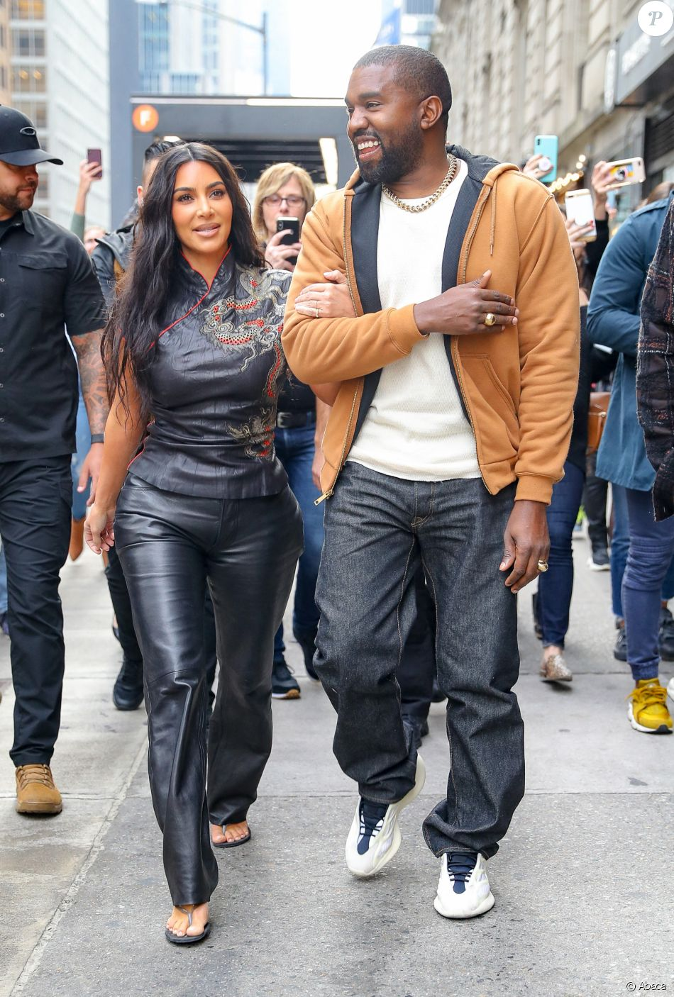 Kim Kardashian et Kanye West à New York. Le 25 octobre 2019.