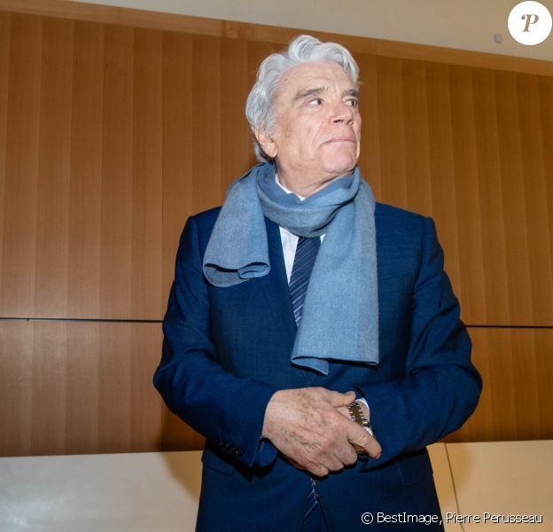Bernard Tapie - Tribunal de Paris, 11e chambre correctionnelle, 2ème section, à Paris le 4 avril 2019. ©Pierre Perusseau / Bestimage