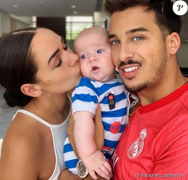 Jazz et Laurent avec leur fils Cayden, sur Instagram, le 20 mai 2019