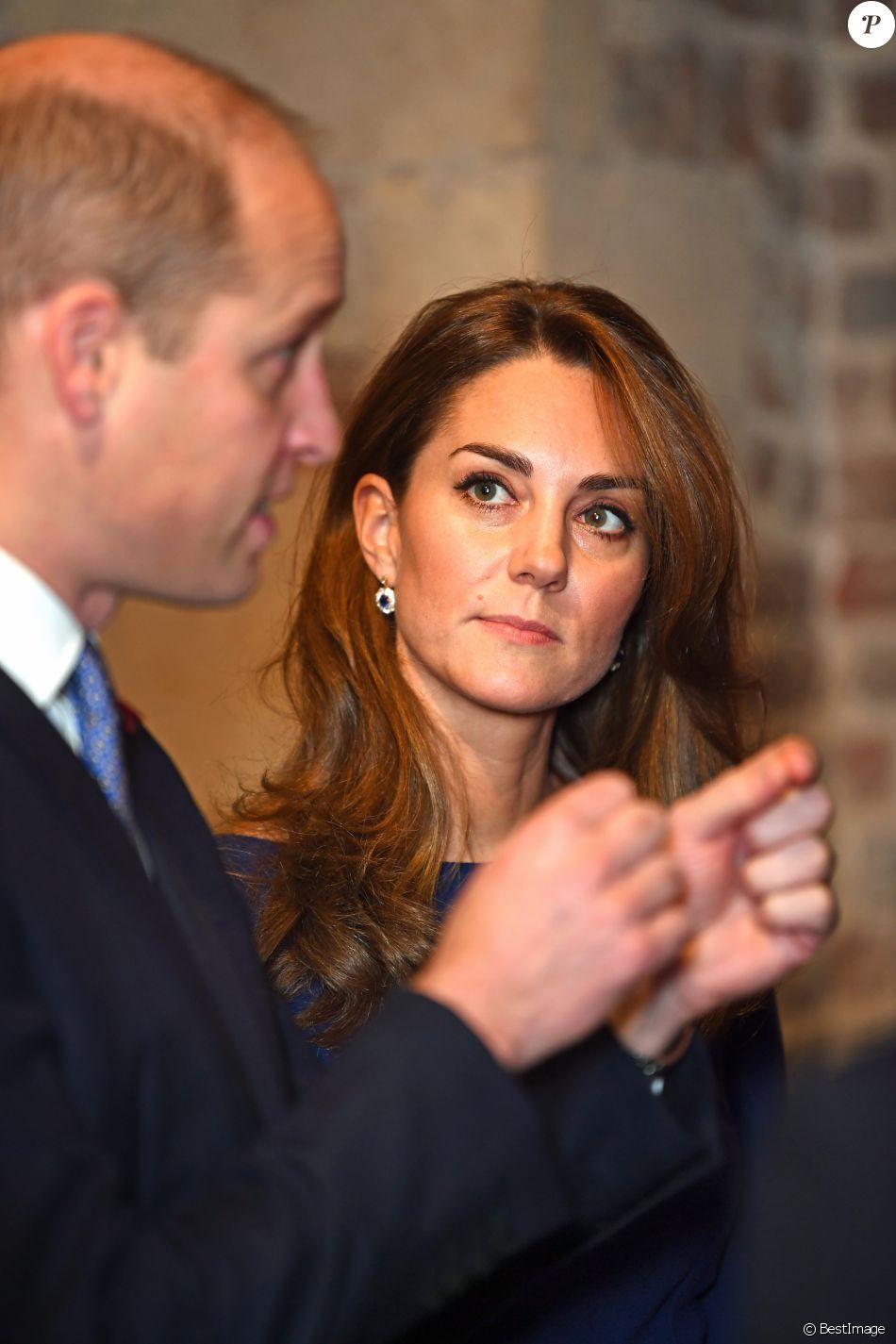 """Kate Middleton et le prince William au lancement de l'association caritative """"National Emergencies Trust"""" à l'Eglise St Martin-in-the-Fields à Londres, le 7 novembre 2019."""