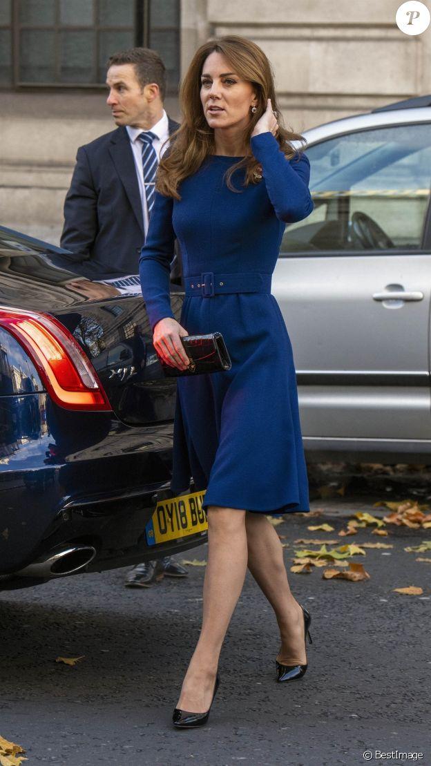 """Kate Middleton, duchesse de Cambridge - Lancement de l'association caritative """"National Emergencies Trust"""" à l'Eglise St Martin-in-the-Fields à Londres, le 7 novembre 2019."""