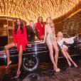 """Elsa Hosk, Romee Strijd, Josephine Skriver, Jasmine Tookes et Yvonne Simone figurent sur la campagne """"All That Glitters"""" de Boohoo. Photo par Zoe McConnell."""