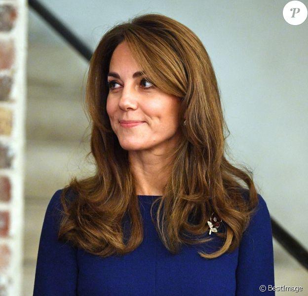 """Kate Middleton au lancement de l'association caritative """"National Emergencies Trust"""" à l'Eglise St Martin-in-the-Fields à Londres, le 7 novembre 2019."""