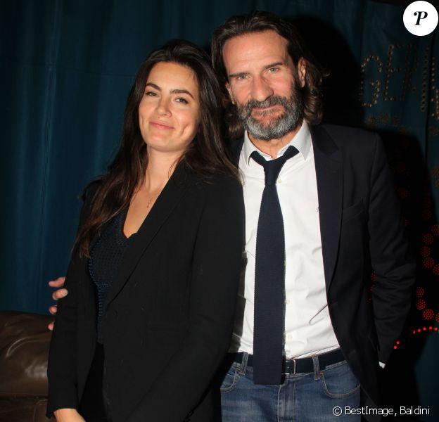 Exclusif - Frédéric Beigbeder et sa femme Lara Micheli - Afterparty du prix du Café de Flore au Paradisio à Paris, le 12 novembre 2019. © Baldini/Bestimage