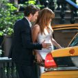 Jennifer Lopez et son partenaire de jeu Alex O'Loughlin sur le tournage de The Back-Up Plan et avec la bonne tenue !