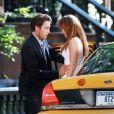 Jennifer Lopez et son partenaire de jeu Alex O'Loughlin sur le tournage de The Back-Up Plan