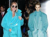 Céline Dion : Beauté turquoise ultrastylée, suite de son défilé de looks
